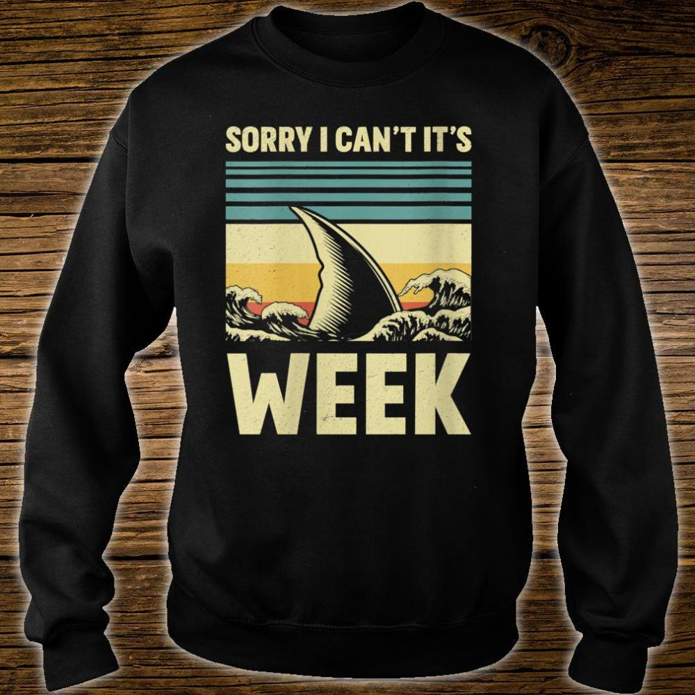 Sorry I Can't it's Week 2020 Shark Fins Wave Shirt sweater