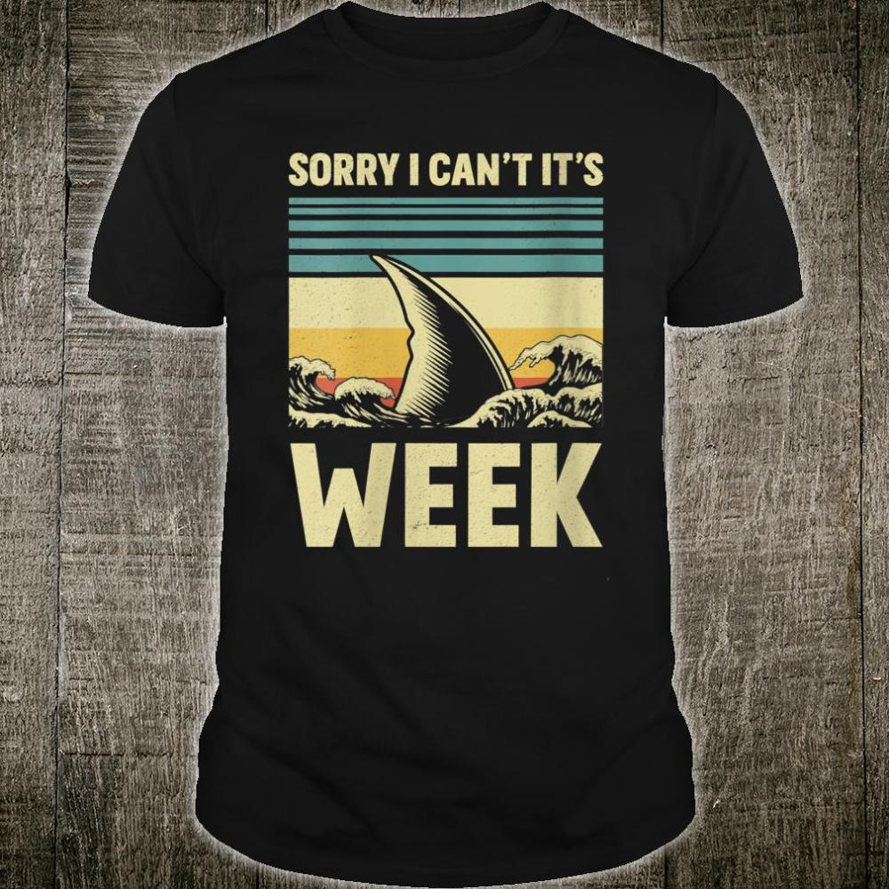 Sorry I Can't it's Week 2020 Shark Fins Wave Shirt