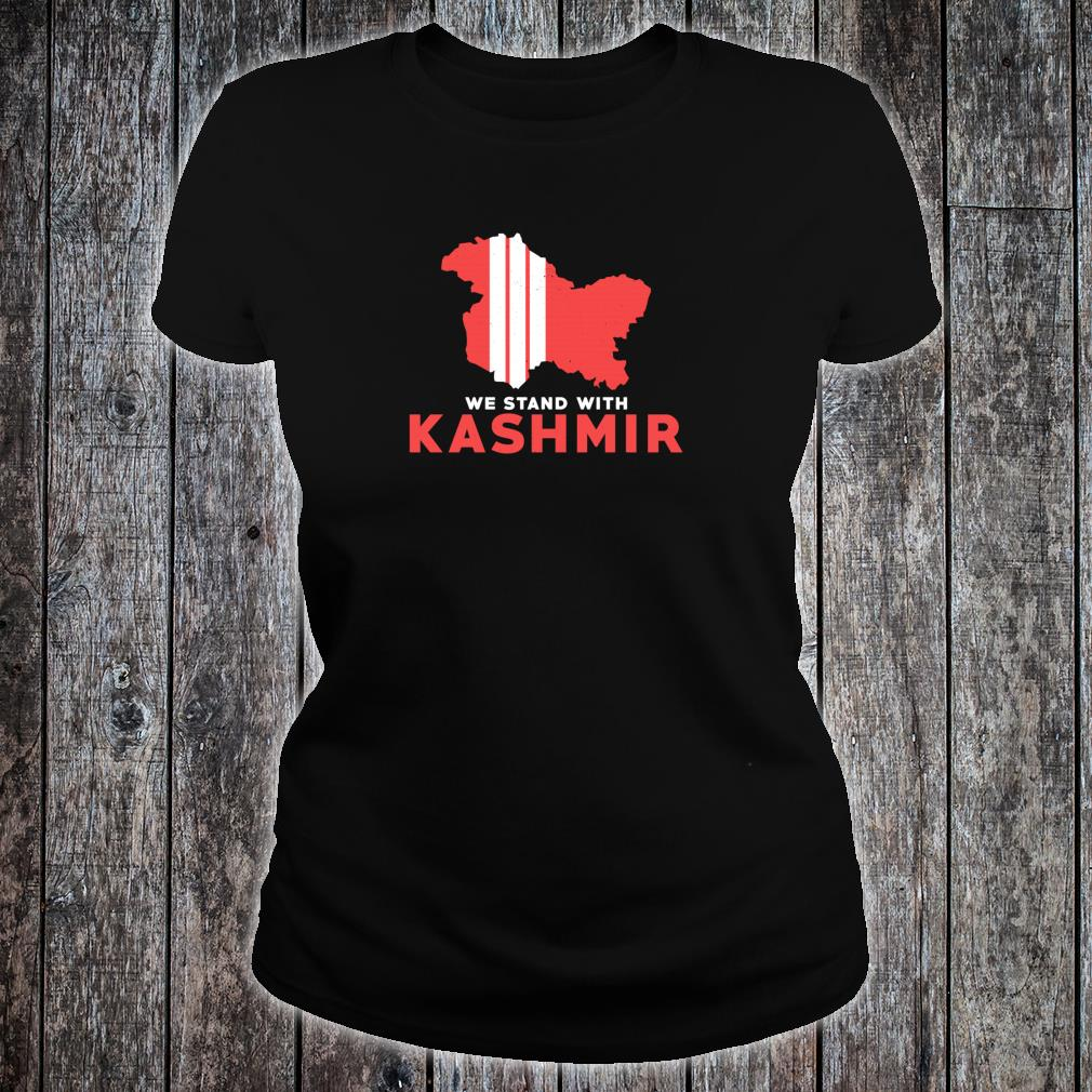 We Stand With Kashmir For Its Solidarity And Freedom Shirt ladies tee