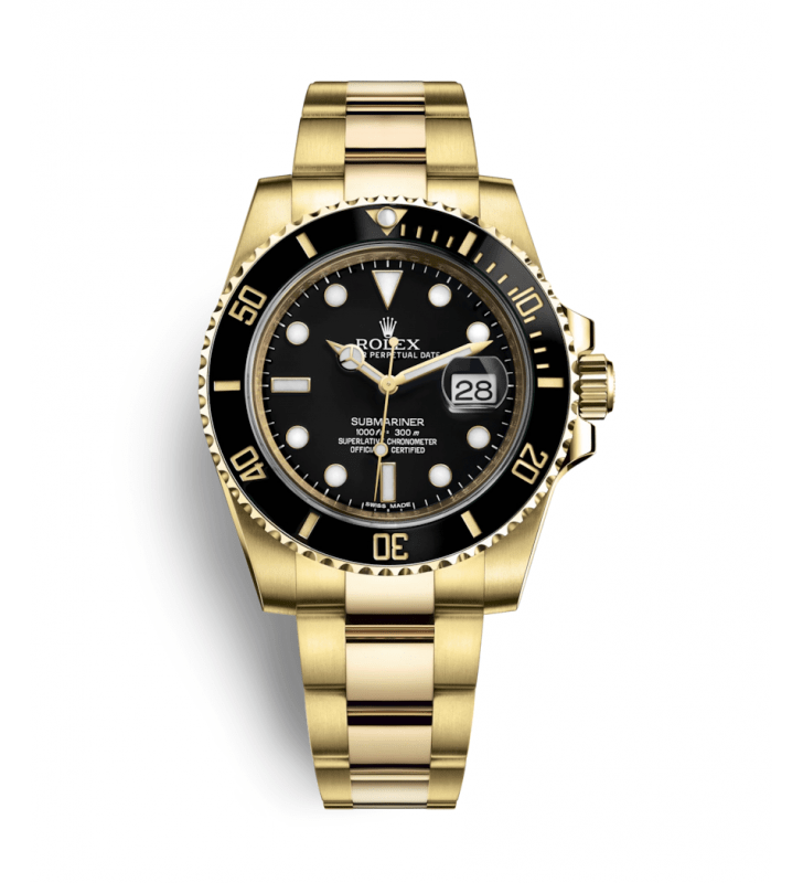 All Watches : Rolex Oyster Perpetual Submariner Date 116618LN Black Dial
