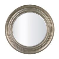 Fullerton Round Silver Mirror