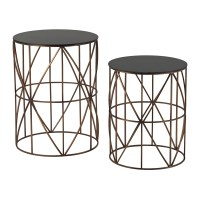Bradfield - Set of Two Drum Side Tables