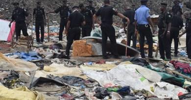 Olusosun: Police Destroys Shanties Built By Miscreants On Site