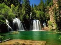 Hanging Lake Waterfall