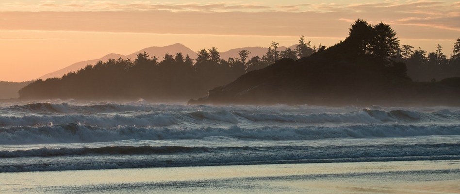 Sunset over the Pacific from Haida Gwaii, Canada
