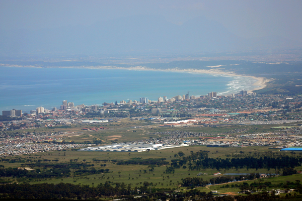 Aerial view of False Bay Coast, Cape Town, South Africa