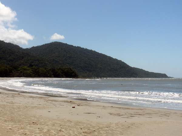 The beach at Cape Tribulation in northern Queensland Australia