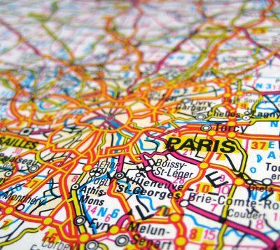 Map of Paris, France