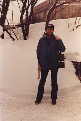 Author Bill Wasserzieher in Finland.