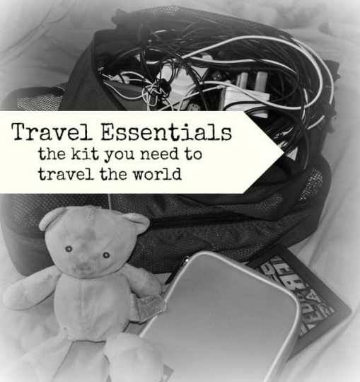 travel essentials. things world travel family blog won't travel without