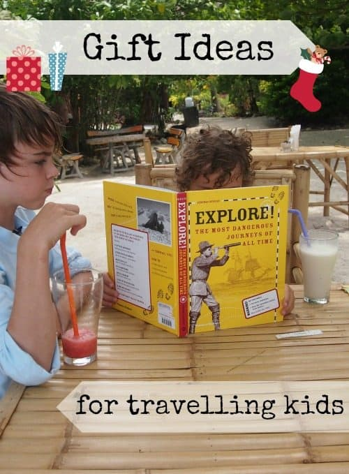 Best travel gifts for kids and families from a family that's been travelling 3 years. Gifts to take on the road and gifts to keep at home to inspire wanderlust.