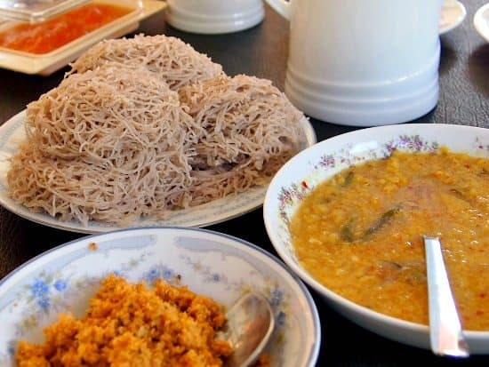 Rivrside Cabanas breakfast Sri Lanka Mirissa