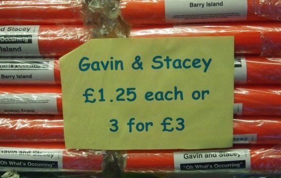 Gavin and Stacey Rock. Barry Island Wales
