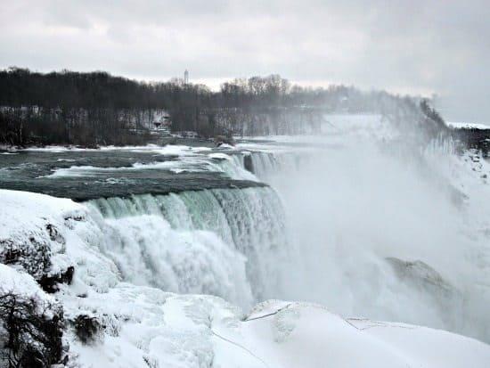 Niagarra falls in winter USA side