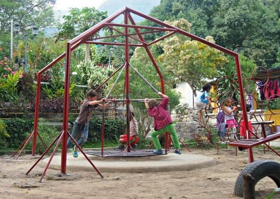 Antigua to San Pedro la Leguna. Playground in San Marcos