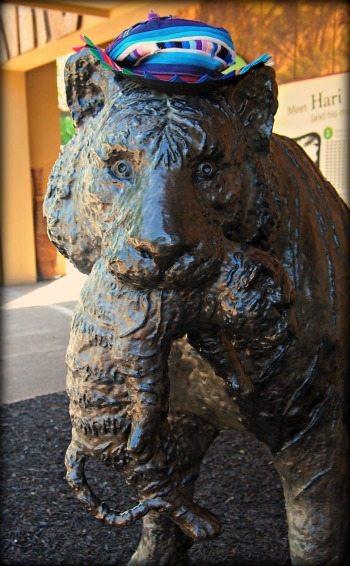 London zoo tiger statue