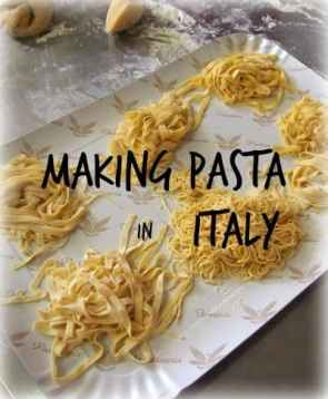 Kids cooking class in Italy making pasta