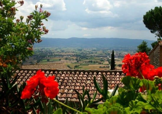 Assisi view Family travel blog tour Assisi