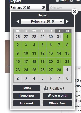 Skyscanner tips for flexible dates