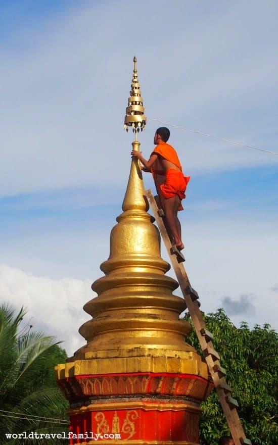 Monk at Monastery Luang Prabang Laos