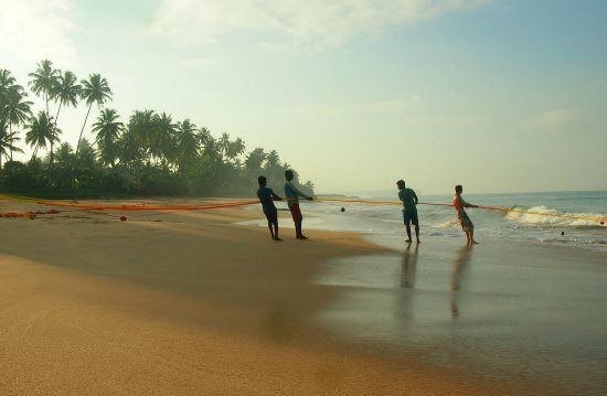 max wadiya villa ambalangoda beach.fishermen at dawn.