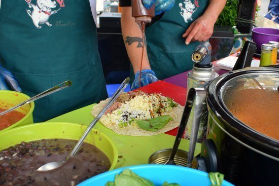Greenwich Market Food Stalls burrito