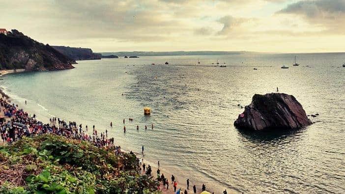 Wales Ironman 2016 Swim. Tenby North Beach