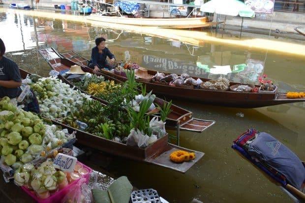 Damnoen Saduak Floating Market near Bangkok Thailand.