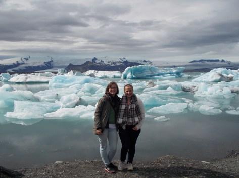 Eva und ich bei der Eislagune