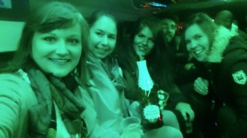 In der Limo...