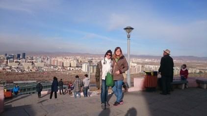 Mum and me on Zaisan Hill