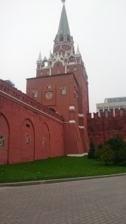 The magnificent red walls of the Kremlin