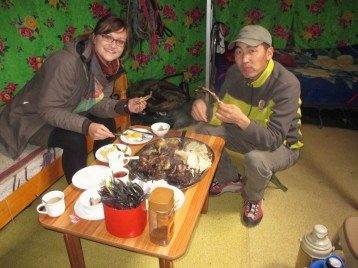 Just on the road - now on the tabe: Yak meat
