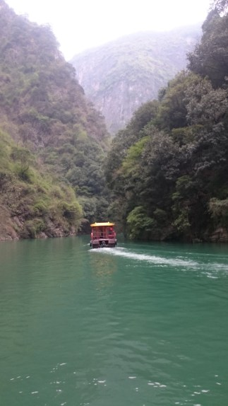 With little boats through narrow gorges