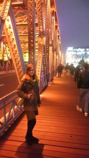An old bridge which goes over the Yangtze River in Shanghai