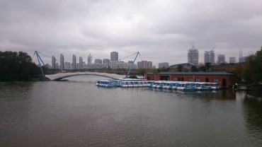 View from the Century Park in Shanghai