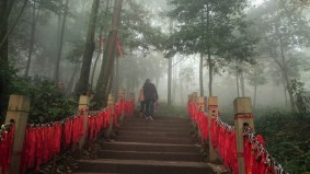 These red stripes are signs of luck in buddhism