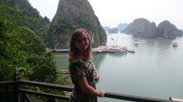 View from the Cave to Halong Bay
