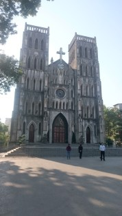 Beautiful christian church in Hanoi