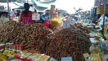Interesting fruits on Chau Doc market
