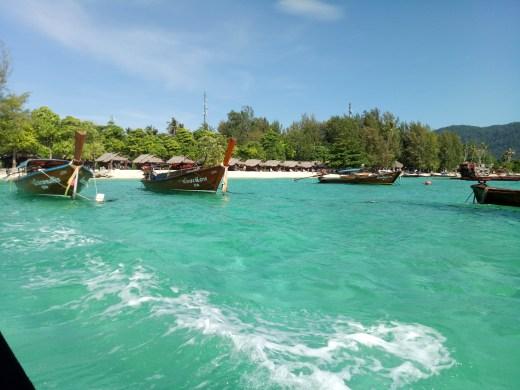 Clear blue water in Koh Lipe