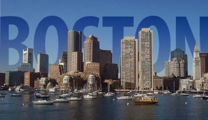 Arial of the city of Boston