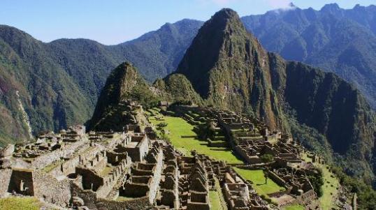 Machu Pichu, Peru warm sunny weather