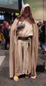 Obi-Wan Kenobi character in flowing beige robe