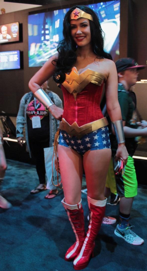 smiling Wonder Woman