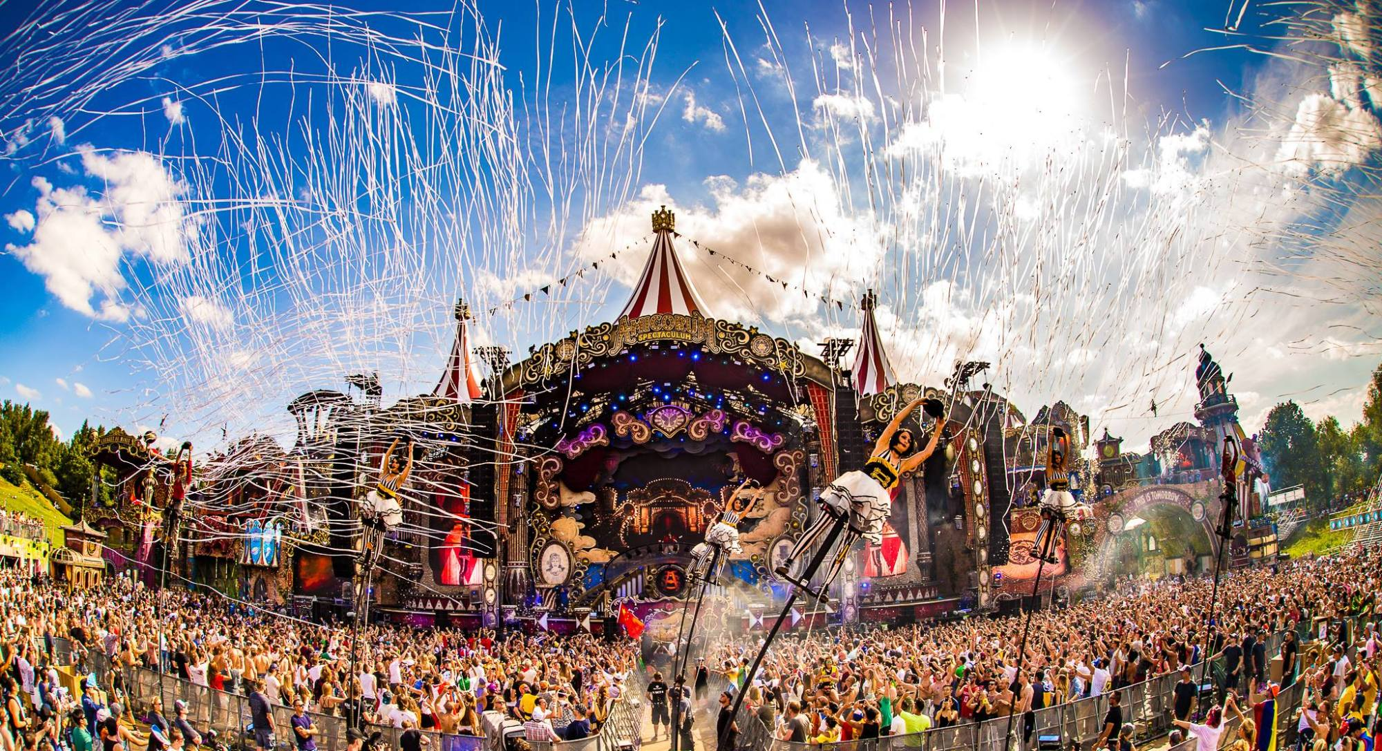 Fish eye view of the Tomorrowland concert in Belgium