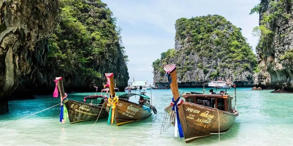 Koh Phi Phi longtail boats