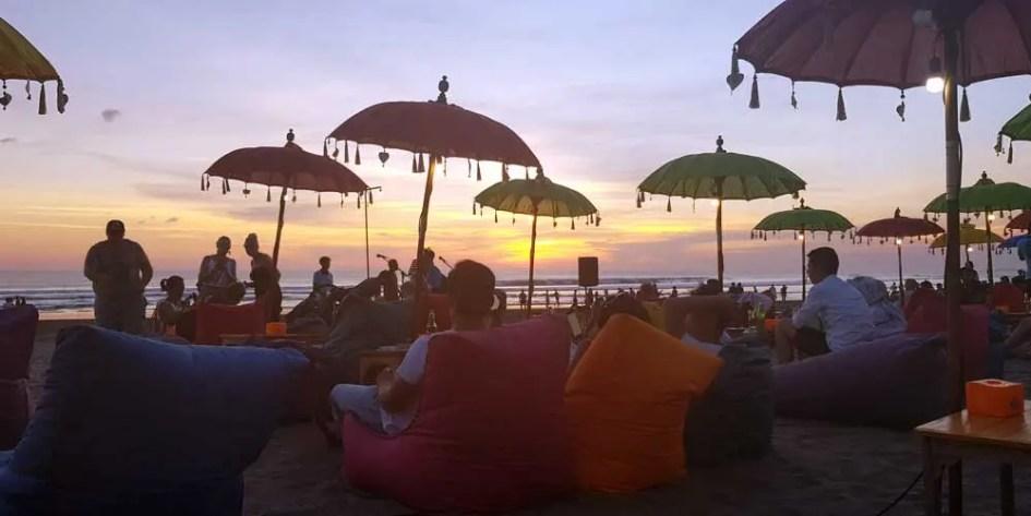 Bali nightlife - beach cocktail bar