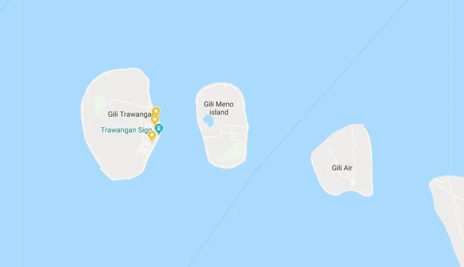 Ultimate guide to the Gili islands - What to see and do - map