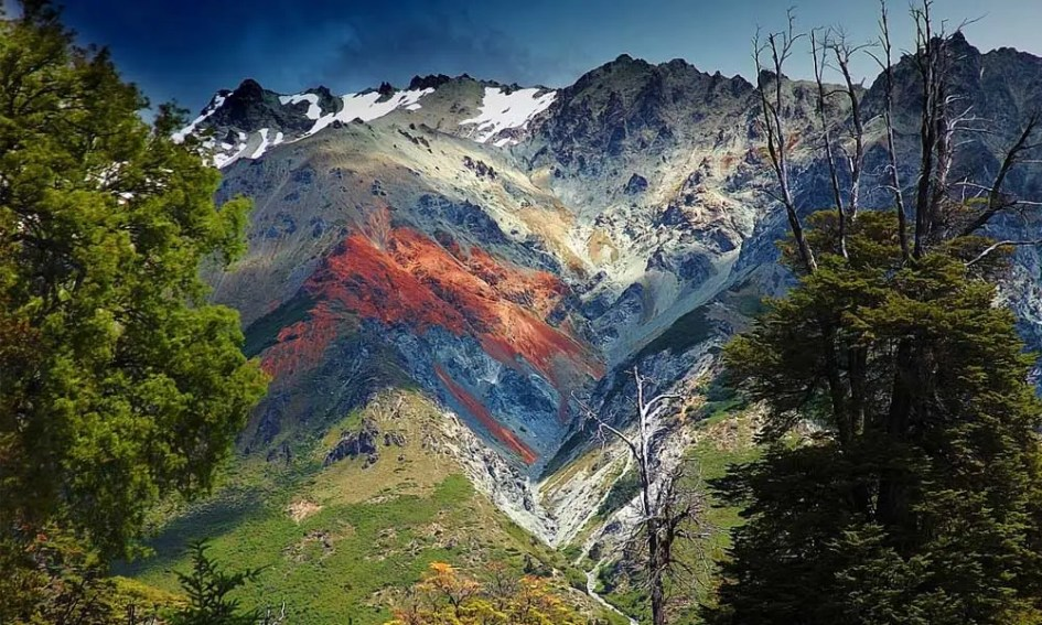 Adventure holidays in September - Shows mountains of Patagonia
